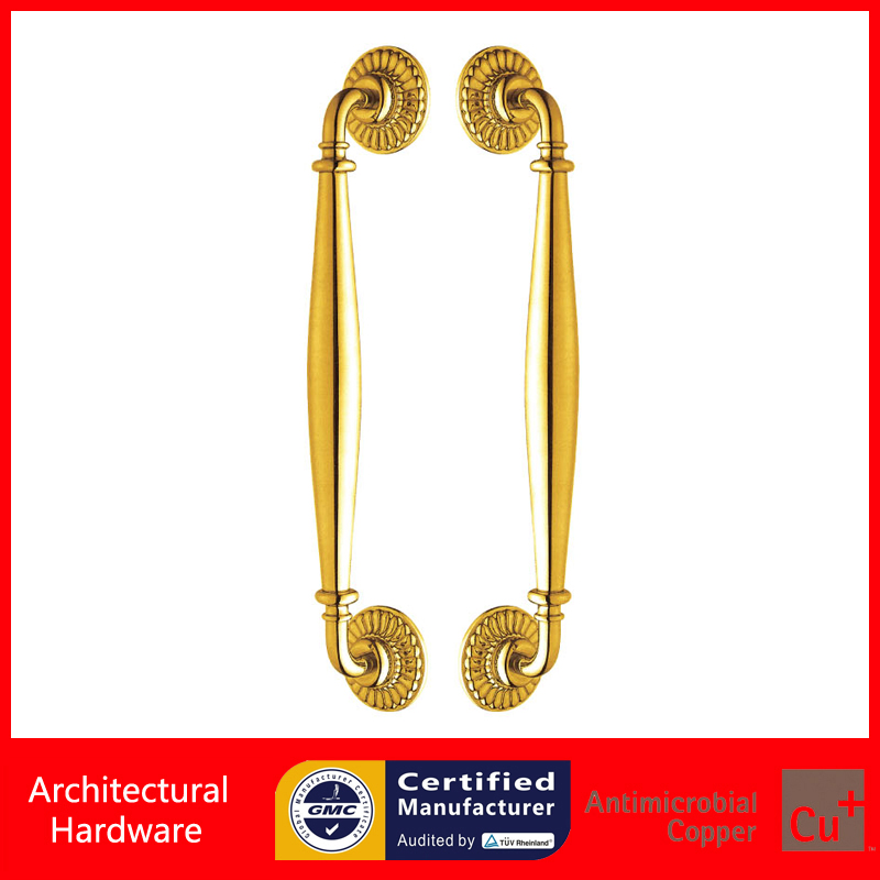Luxurious Entrance Door Handle Golden/Bronze Stainless Steel Pull Handles For Metal Frame/Glass/Wooden Doors PA-845-38*476mm antimicrobial black solid nylon offset door pull handle for entrance glass wooden metal frame doors pa 797