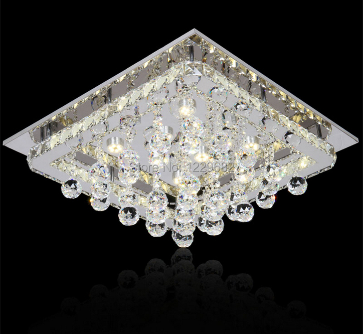 Modern fashionable design for decorative the luxurious foyer Home Lustres K9 crystal ceiling lights for bed room lamp lighting