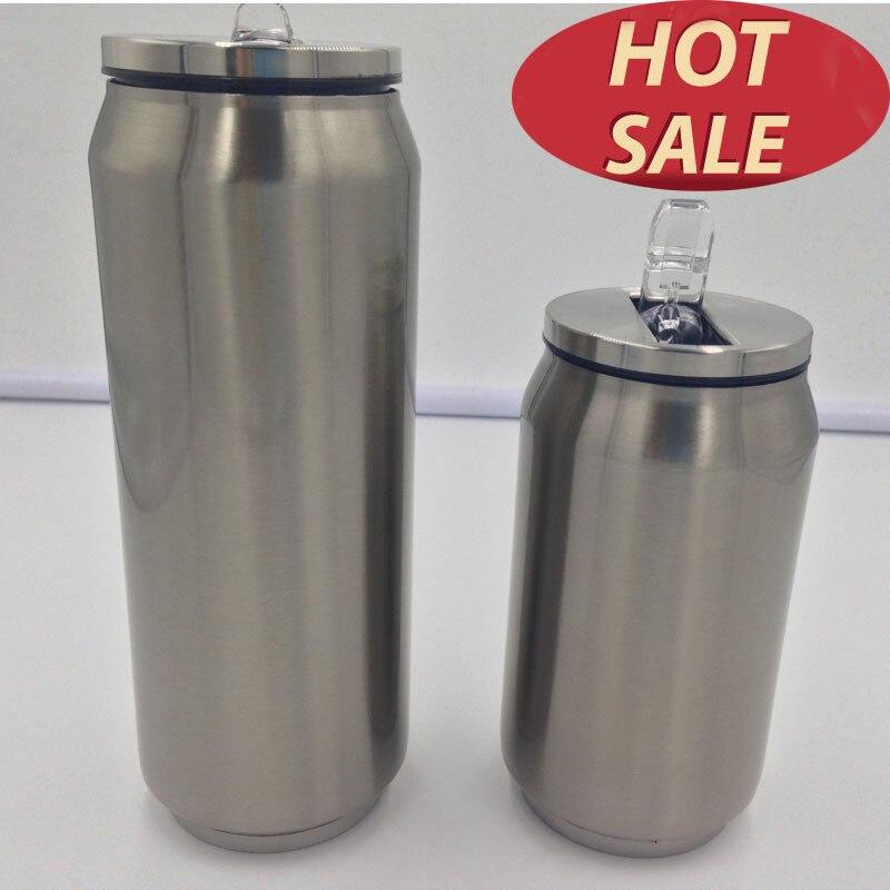 À Double Paroi thermos en acier inoxydable Termos Flacon Tasse tasse à café réutilisable avec Couvercle et Paille Garrafa Termica Inox Boisson Termo Peut