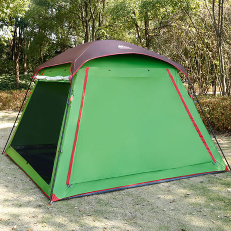 Hewolf 5-8 Person 300*300*210CM Advanced Waterproof Camping Tent Large Gazebo Beach Tent Tente outdoor 8 12 person tunnel big beach tent single layer portable large waterproof awning camping tente family free shipping zp98