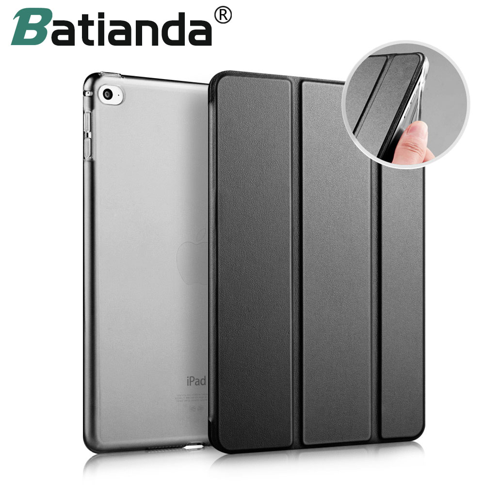 For iPad Pro 9.7 Case Soft TPU Bumper Edge Slim Fit Leather Smart Case Cover  with Auto Sleep/Wake For Apple iPad Pro 9.7 2016 surehin nice tpu silicone soft edge cover for apple ipad air 2 case leather sleeve transparent kids thin smart cover case skin