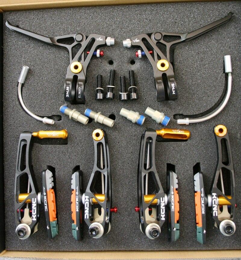 KCNC vtt pli vélo frein V1 VB1 V-BRAKE leviers et bras de frein ensemble rouge 270g un ensemble