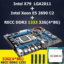 Huanan x79 lga 2011 материнская плата cpu intel xeon e5 2690 c2 памяти (4*8) 32 Г DDR3 ECC REG 4 каналов 2 года гарантии