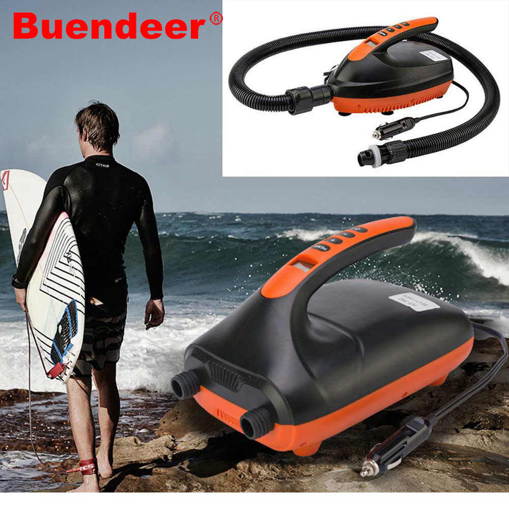 Buendeer SUP Car Electric Air Pump Intelligent High Speed Inflatable Pump Only for Paddle SUP Max 16/20 PSI