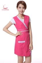 Beautician work clothes apron new beauty manicure dress waistcoat salon