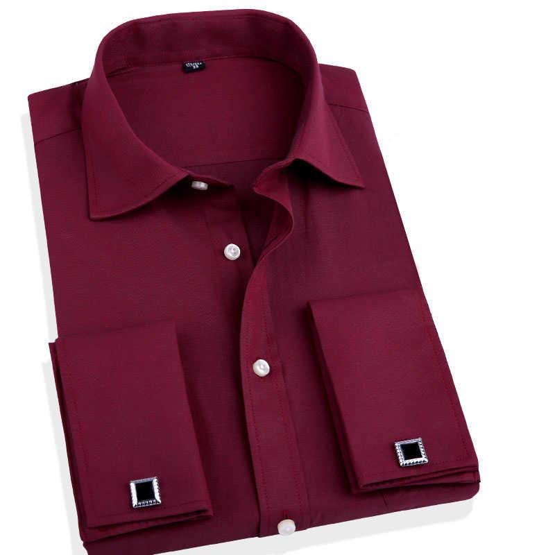 フレンチカフスボタン男性ドレスシャツカフスメンズウェディングシャツ男性ビジネスオフィス服