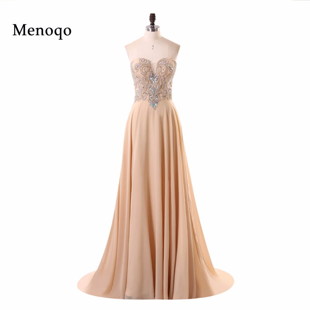 New Arrival Actual Images A line Beaded Chiffon Special Occasion Formal Gowns Abendkleider Elegant Long Prom Dresses