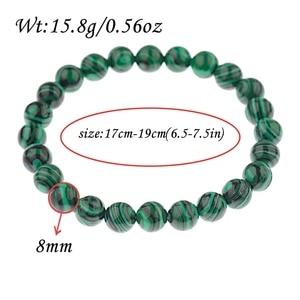 Image 4 - 2020 Natural Green Stripe Stone Beads Bracelet Charm Men Meditation Handmade Bracelets&Bangles Prayer Jewelry Women AB139