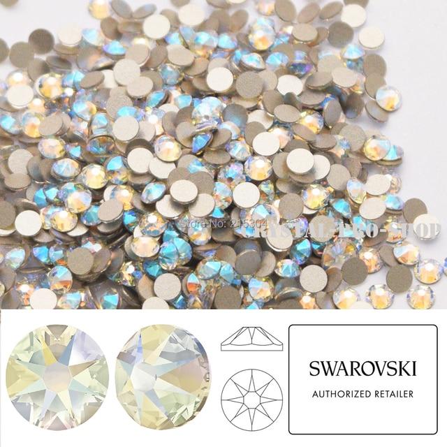 NEW Effect Swarovski Elements Crystal Shimmer ( 001 SHIM ) ( ss5 - ss30 ) (  No Hotfix ) Flat Back Loose Rhinestones Craft DIY 401b2e37edc6