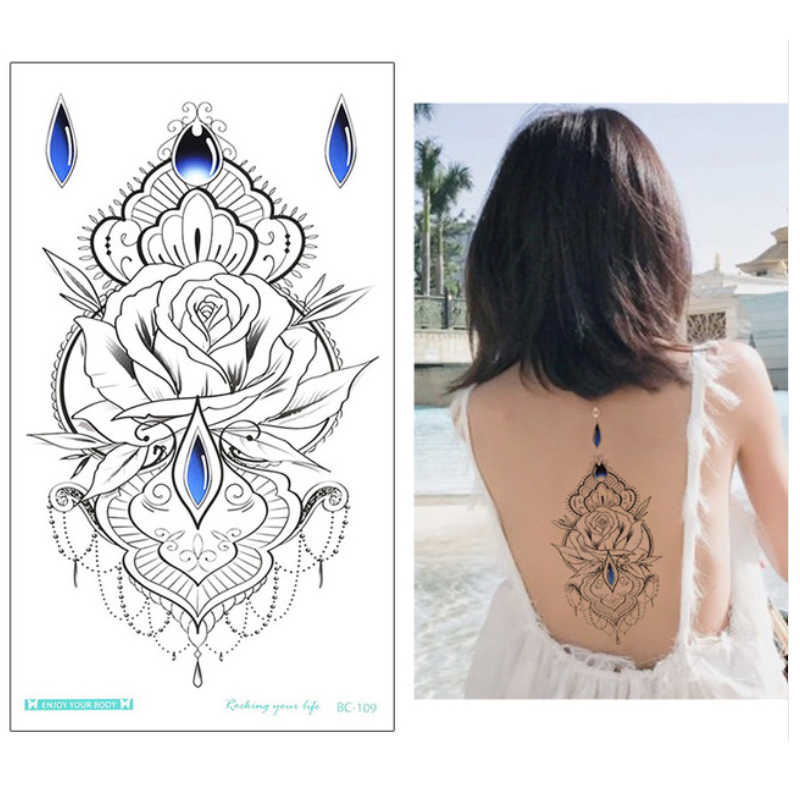 Henna Tattoo Designs Under Breast: New Designs Chest Flash Tattoo Large Flower Earrings