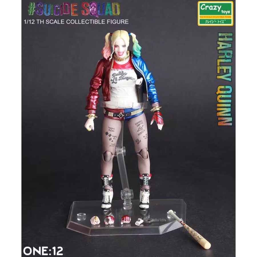 XINDUPLAN DC Comics Justice League Harley Quinn Crazy Toys Joker Action Figure Toys 15cm Kids Collection Model 1068 dc comics designer series darwyn cooke batman supergirl harley quinn pvc action figure collection model toys 7 18cm