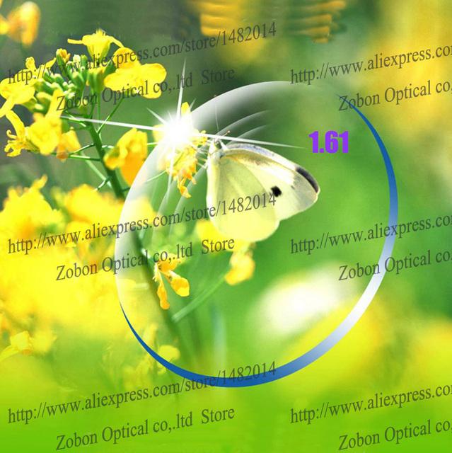Envío gratis promoción al por mayor índice 1.61 superficie asférica anti UV y radiación ultra fino estupendo claro lente película verde gafas