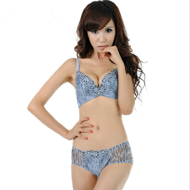 f44553907 Best Service Super sexy little size lovely young girl s favorite bra set  adjustable small chest thick leopard high bra