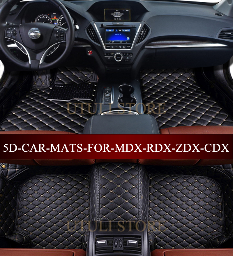 Leather Car Floor Mats For Acura MDX RDX ZDX CDX