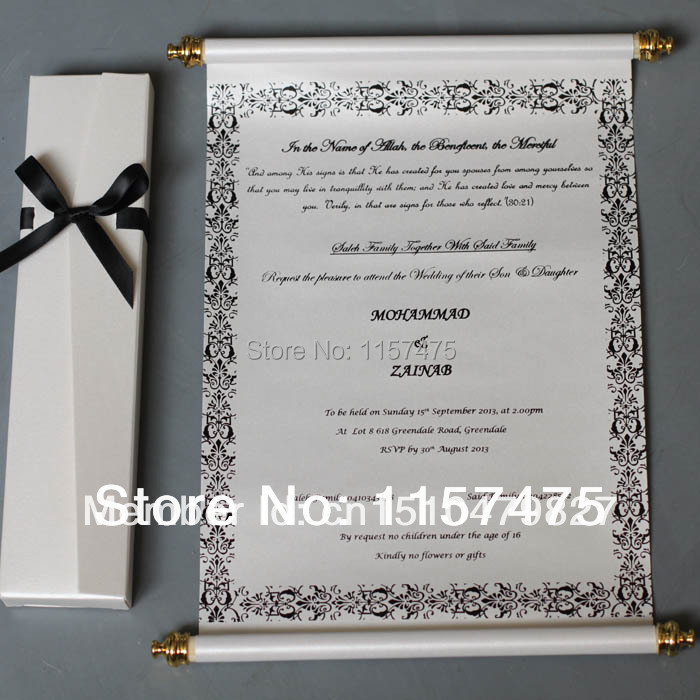 Online Buy Wholesale scroll wedding invitations from China scroll