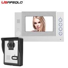 """USAFEQLO последняя модель """" полноцветный ЖК-дисплей зеркальный экран видео телефон двери для виллы домашней автоматизации Интерком охранника дверной звонок 1V1"""