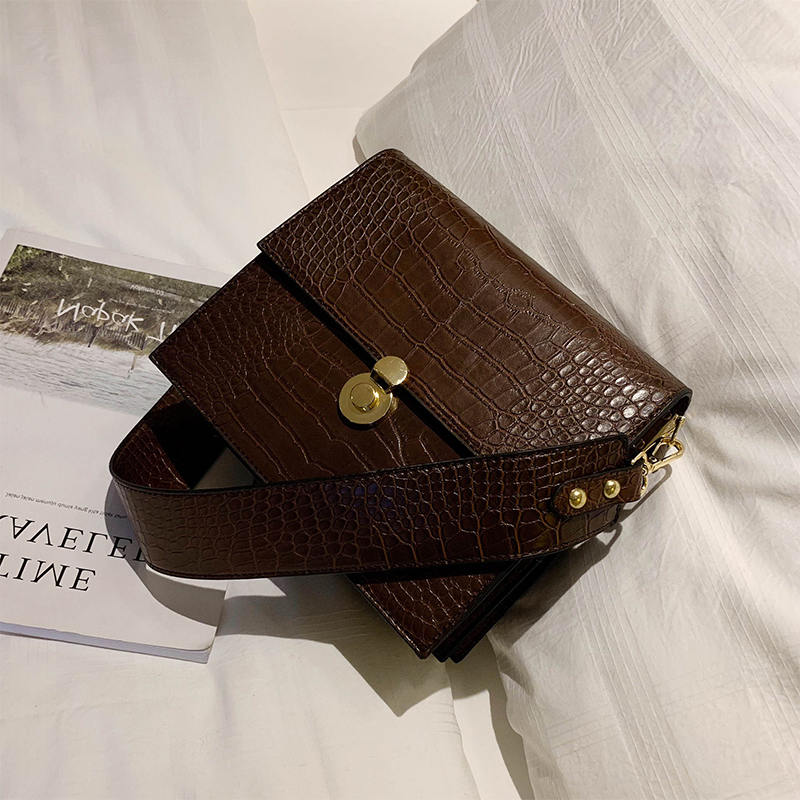 Vintage Fashion Female Tote bag 2019 New Quality PU Leather Women's Designer Handbag Crocodile Pattern Shoulder Messenger Bags 4