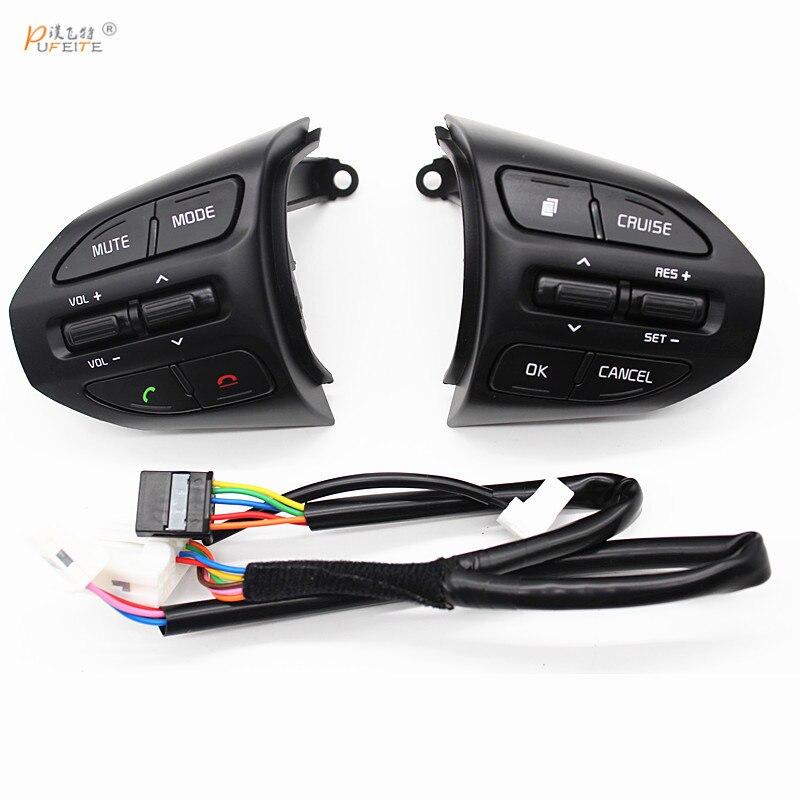 Kostenloser versand Lenkrad Taste Für KIA K2 RIO 2017 2018 RIO X LINIE Schalter für Bluetooth Telefon Tempomat volumen auto