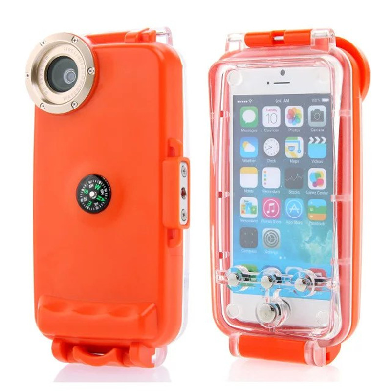 40M Diving Waterproof Case for iPhone 6 6S 4.7 inch Swimming Drifting Floating Rafting Surfing Case Underwater Cover Phone Bag