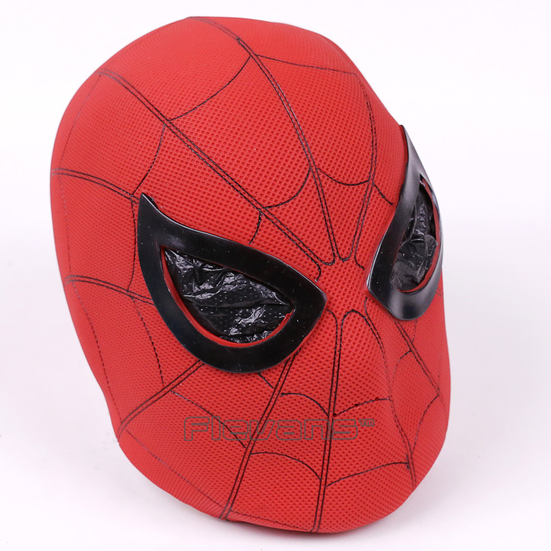 High Quality Spiderman Cosplay Mask Latex Full Face Mask Spider Man Party Props Costume Rubber Masks Figure Toy 2pcs lot harry potter series death eater mask halloween horror malfoy lucius resin masks toy private party cosplay toys gift