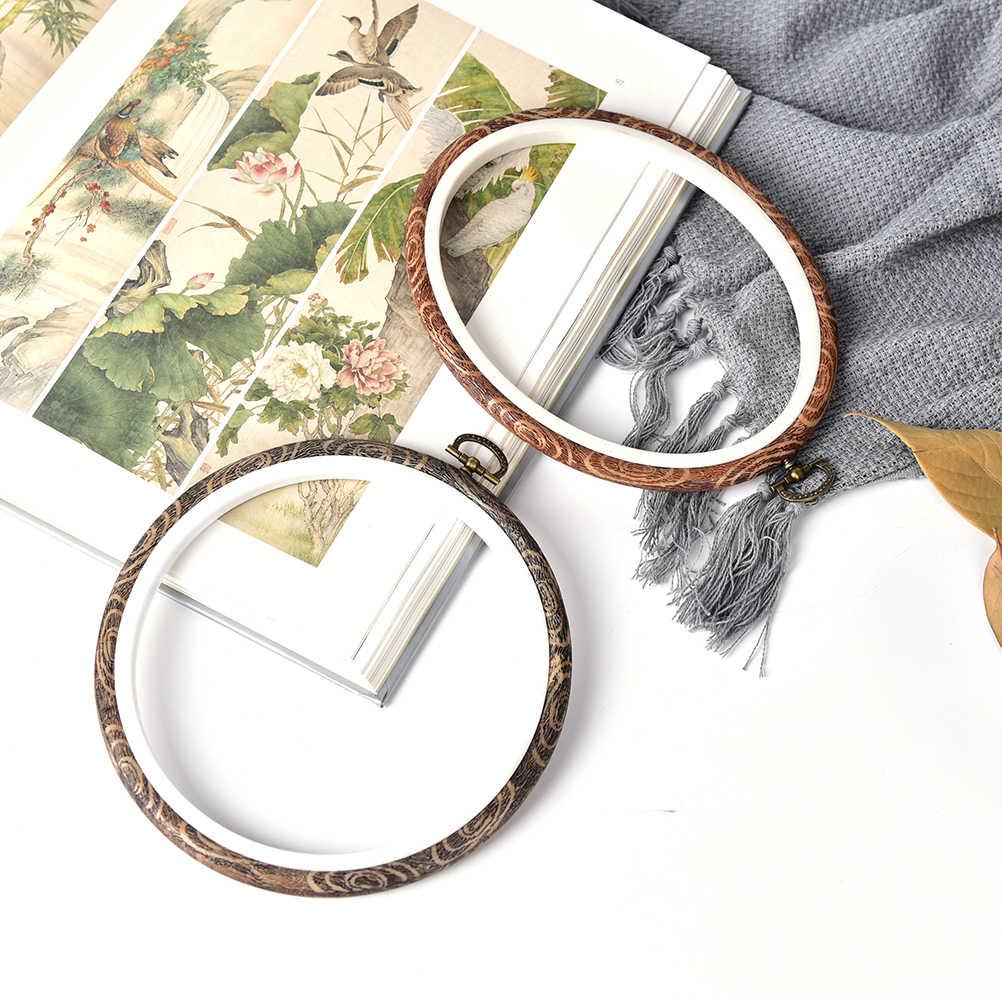 Рамка «сделай сам» пяльцы для вышивания круглое кольцо для ручной работы, бытовой швейный инструмент, практичный станок для вышивки крестом, Деревянный 12-29 см