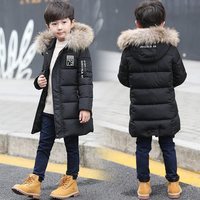 Baby Boy Clothes Winter Coat Hooded Children Patchwork Cotton Kids Winter Jacket Boys Warm Outerwear Parks Coats 5 To 12 Years