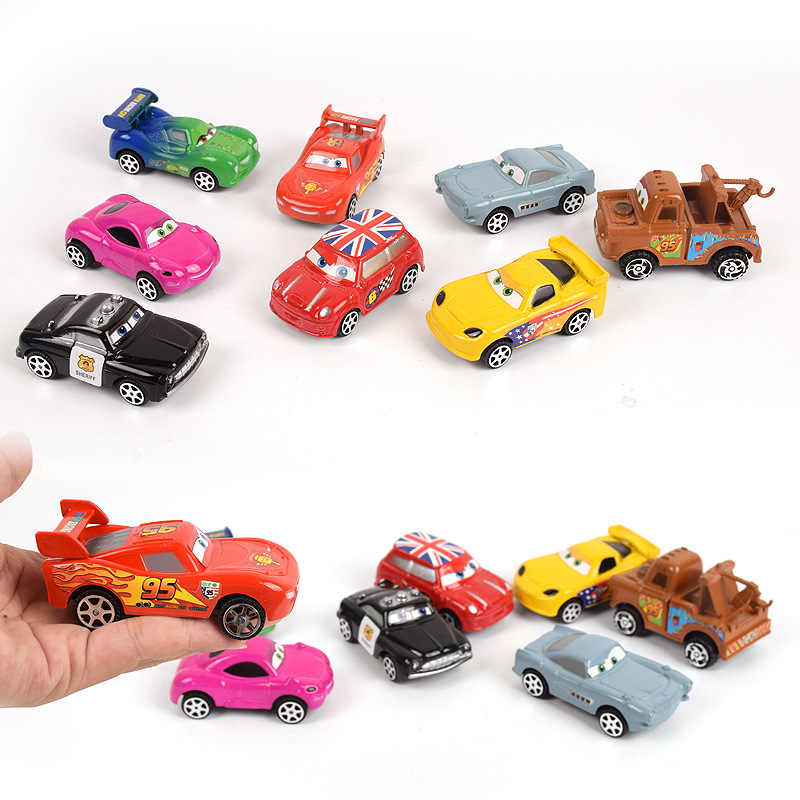 Disney Pixar Cars 3 Lightning McQueen Jackson Storm Mater 1:55 Cartoon  Model Car Toy Christmas Gift Children Boys