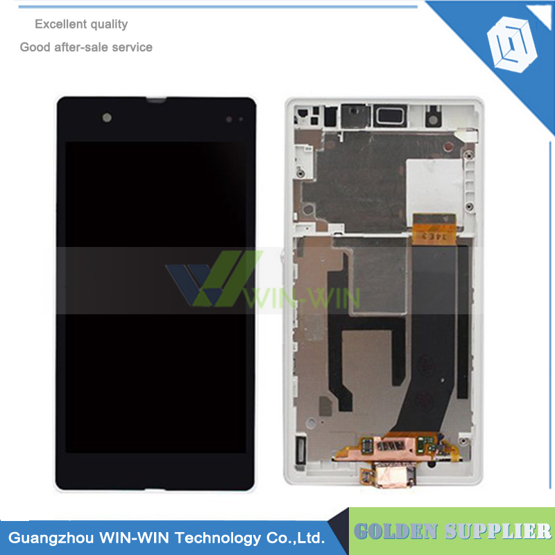 Подробнее о 5csp/lot LCD display touch screen digitizer+Frame assembly For Sony Xperia Z LT36i L36H C6603 C6602 Black/White 10pcs lot aaa 5 black white lcd for sony xperia z1 l39h lcd display touch screen digitizer frame assembly l39 c6902 c6903 dhl