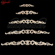 The Woodcarving Flower Patch Are European Style Wooden Furniture Door Decals Background Decoration Floral Applique Bed