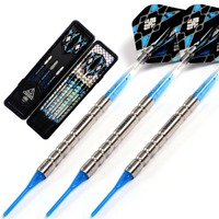 CUESOUL New Darts Gift!!! 3pcs Blue Tungsten Darts with 6 Pieces Blue Dart Shaft