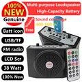 Livre-Transporte! altifalante com Microfone de Voz Amplificador Booster Megafone Speaker Para Guia Ensino Posto de Promoção de Vendas