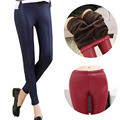 Womens Fashion Winter Thicken Fleece Warmer Leggings Flannel Thigh Slimming Ankle-length Solid Faux  Q5361