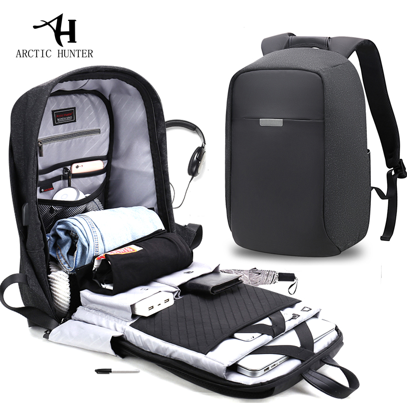 Arctic Hunter Usb Charging Men 15inch Laptop Backpacks For Teenager Fashion Male Mochila Leisure Travel Backpack