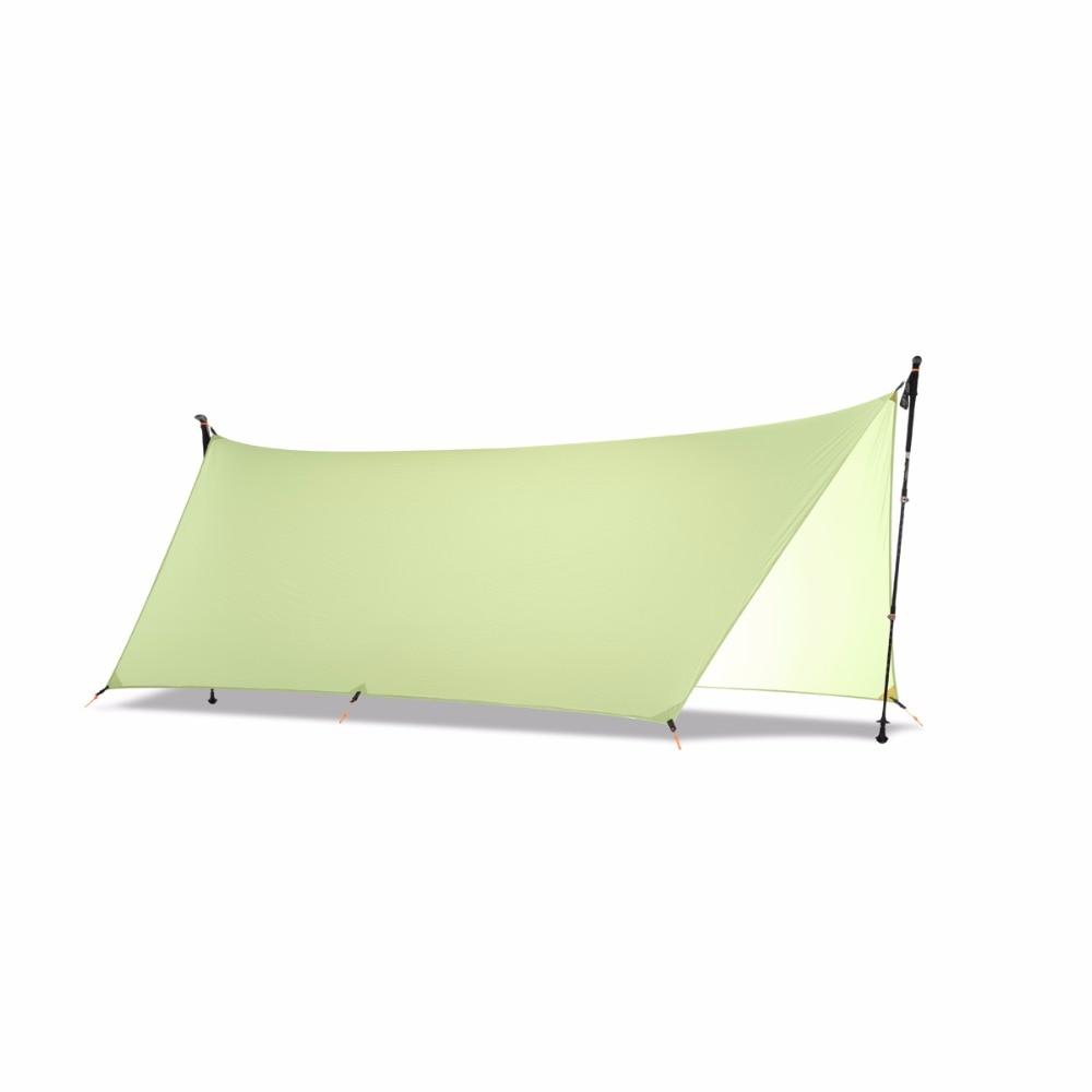 450G 20D Double Sided Silicon Tarpe Ultralight Sun Shelter Beach Tent Pergola Awning Canopy Taffeta Tarp