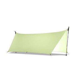 450 г 20D двухсторонний кремний Tarpe Сверхлегкая Солнцезащитная палатка Пляжная палатка Пергола тент навес тент из тафты Кемпинг Sunshelter >> YUKI SHOP