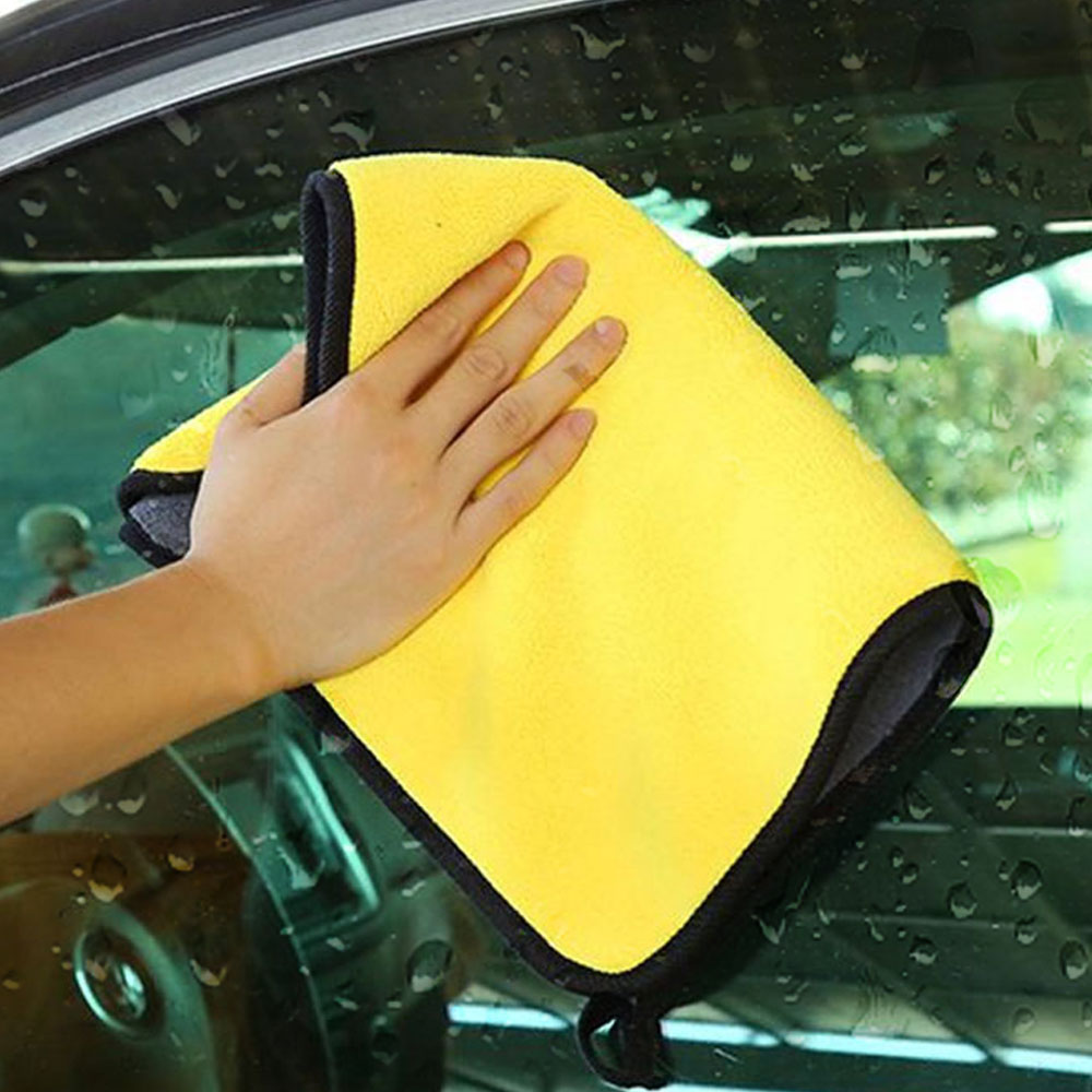 Super Absorbent Car Wash Microfiber Towel Car Cleaning Drying Cloth Hemming