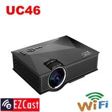 2017 nueva llegada miracast proyector unic uc46 uc40 1080 p full hd 1200 lúmenes mejor pequeño 800*480 vga hd wifi pantalla de led proyector