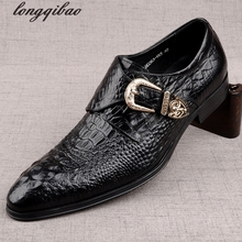 The new brand crocodile men s shoes England Spring tide casual leather men s Foot breathable