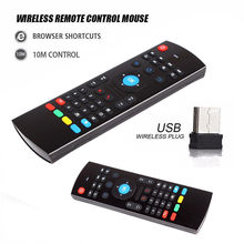 2.4G Fly Air Mouse MX3 Draadloze Afstandsbediening Draadloze Qwerty Toetsenbord Voor Smart Tv Tv Box T95Z Plus/x96 Mini Projector Bijgewerkt(China)