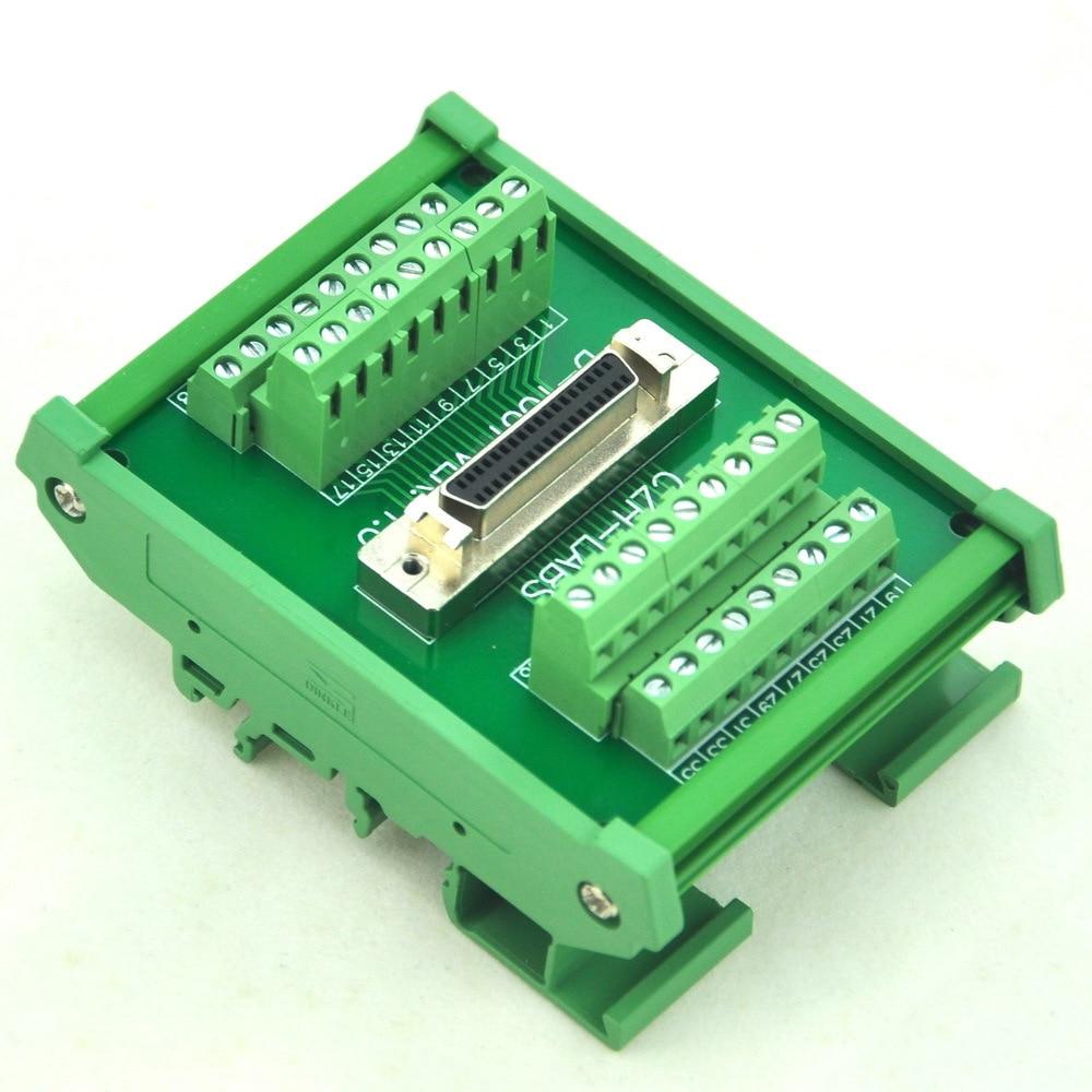 DIN Rail Mount 36-pin Half-Pitch/0.05