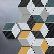 10 шт./компл. шестиугольник наклейки для настенной плитки DIY искусство стены декора Стикеры s 3D домашнего декора гостиной декоративная наклейка для комнаты muraux 18Oct