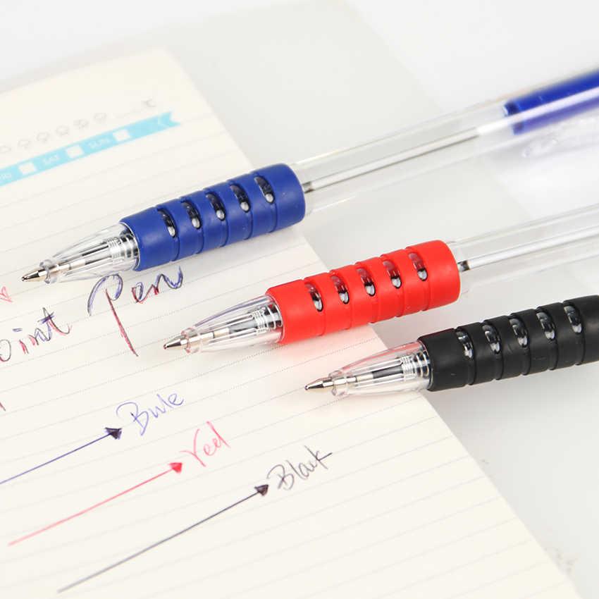 สีฟ้าสีหมึกปากกาลูกลื่น 0.7 มม.ลูกกลิ้งคลาสสิกปากกาสำนักงานเครื่องเขียนโรงเรียนเครื่องเขียน Canetas Escolar