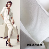 Italy R Import Stretch Chiffon Fabric Through Single Knot Thickened High Fashion Cloth Fabric