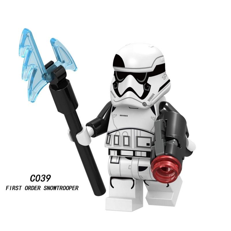 Single Sale Super Heroes Star Wars First Order Snowtrooper 039 Building Block Figure Bricks Toys Gifts Compatible Legoed Ninjaed