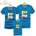 I Love Family Brand T shirt Caual Mother Father Daughter Son Summer Family Matching Clothes 2017 Kids Children Tee Outfits F002