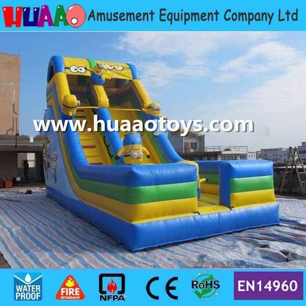 US $1380 0 |2016 new design minions inflatable Slide with CE blower and PVC  bag and repair kit-in Slides from Sports & Entertainment on Aliexpress com