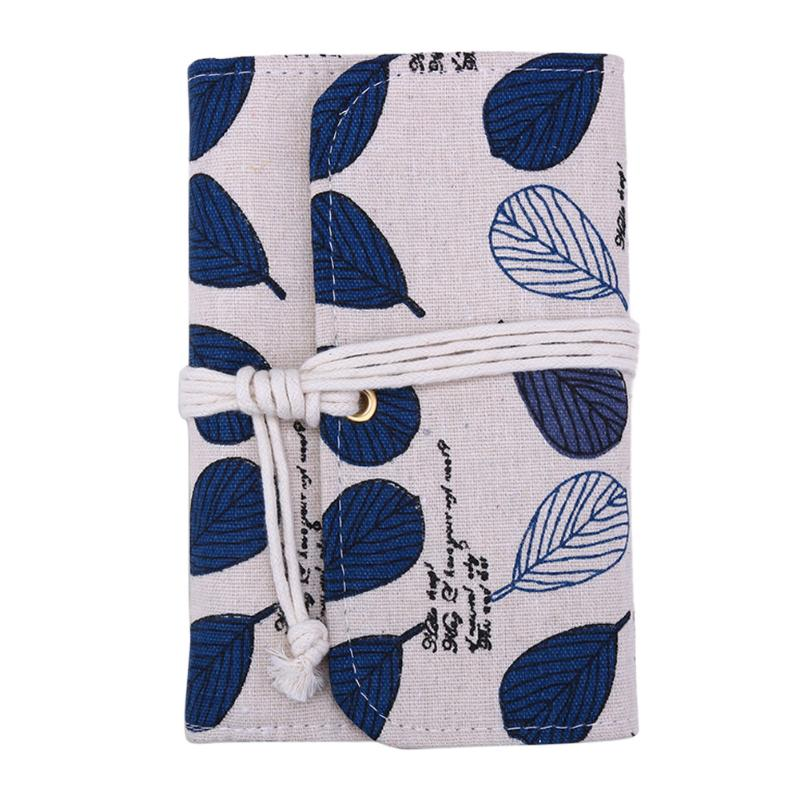 Cute Leaf Linen Cover Notebook Schedule Agenda Planner Pocketbook Journal Diary Sketchbook Office Organizer Caderno Papelaria a5b5 silver coil pp frosted cover notebook office school papelaria multifunctional organizer diario elastic binder planner