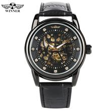 Luxury Men's Automatic Mechanical Watches Leather Strap Mechanical Analog Watch for Male Fashion Skeleton Watch for Teenagers все цены