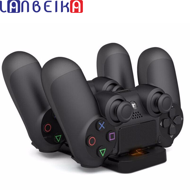 New Arrive Dual USB Charging Dock Station Stand for playstation 4 PS4 Game Controller Black Charger for dualshock 4 handle