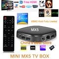 Mini X5 Penta-Core GPU Inteligente Android TV Box 1G/8G Android 5.1 Quad Core Set-top Box 4 K OTT Smart TV XBMC KODI Full HD HDD jugador